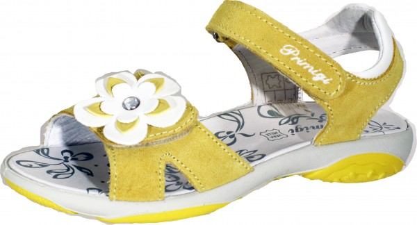 73914 - Yellow / White suede leather