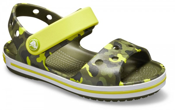Crocband Graphic Sandal Kids Citrus Croslite