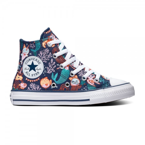 Chuck Taylor All Star Kids - Hi - Navy / Rapid Teal / White Canvas