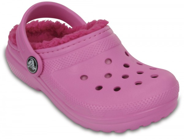 Classic Lined Clog Kids Party Pink / Candy Pink Croslite