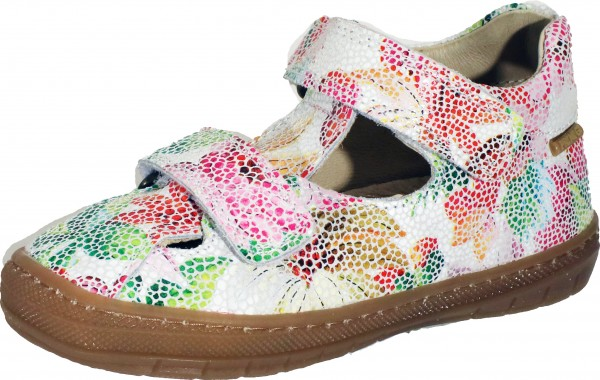 74012 - White / Pink / Green suede leather