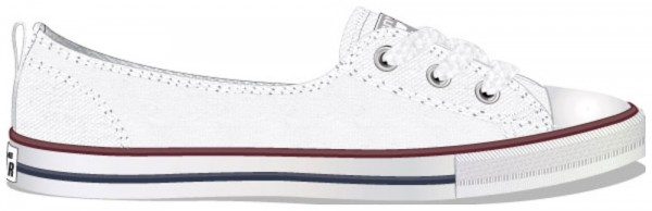 Chuck Taylor All Star Ballet Lace White Red Blue Canvas