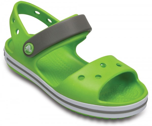 Crocband Sandal Kids Volt Green / Smoke Croslite