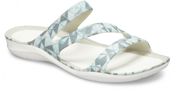 Swiftwater Printed Sandal Geo / White Croslite