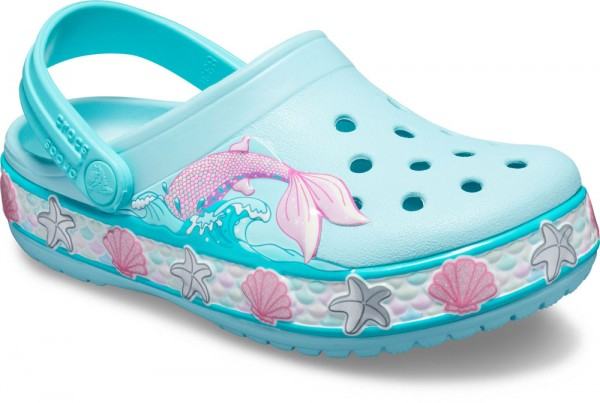 Funlab Mermaid Band Clog Kids Ice Blue Croslite