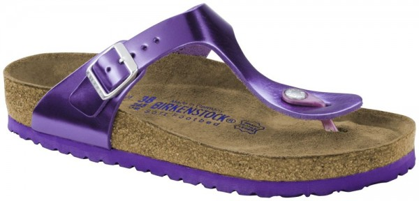 Gizeh Metallic Purple Soft Footbed smooth leather