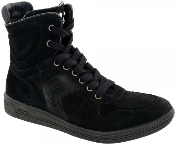 Geox Tabata - Black suede leather