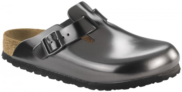 Boston Metallic Anthracite Soft Footbed smooth leather