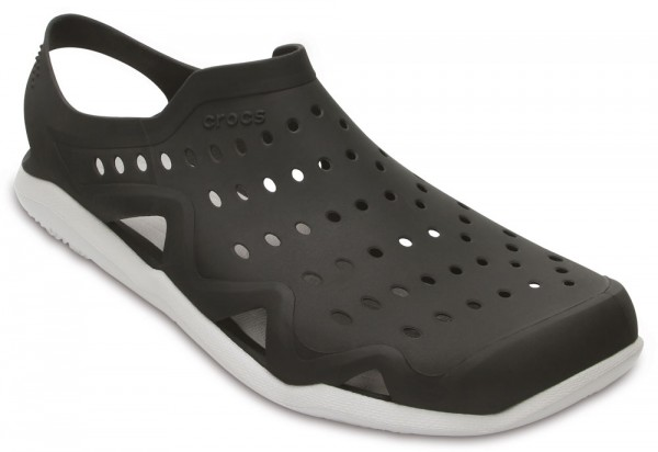 Swiftwater Wave Shoe Black / Pearl White Croslite