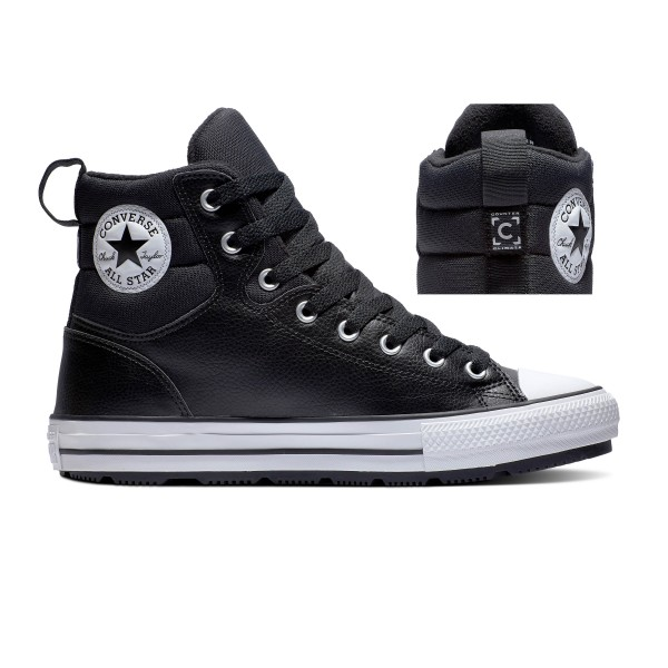 Chuck Taylor All Star Berkshire Boot - Black / White / Black Leather/Synthetic