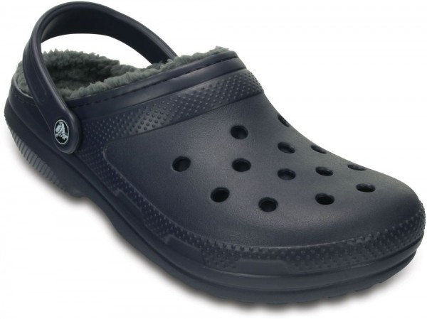 Classic Lined Clog Navy / Charcoal Croslite/Textil