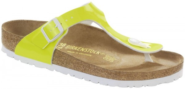 a3246193f9af Gizeh Neon Yellow Patent Birko-Flor patent