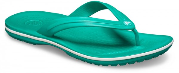 Crocband Flip Deep Green / White Croslite