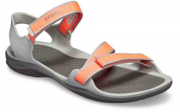 Swiftwater Webbing Sandal Bright Coral / Light grey Croslite