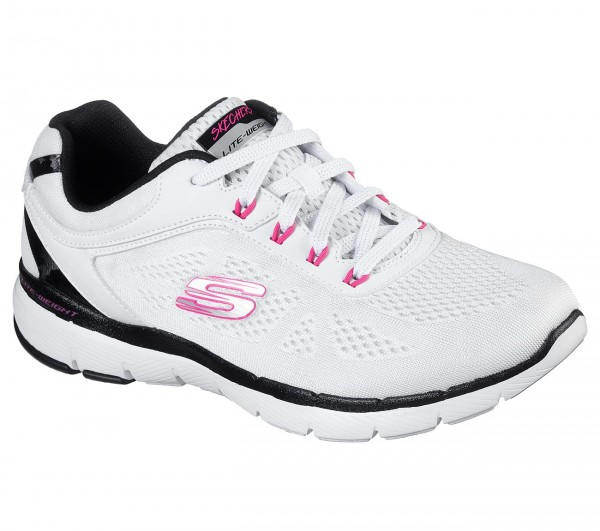 Flex Appeal 3.0 - Steady Move - White / Black / Hot Pink Polyester