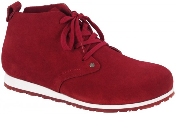 Dundee Plus Red suede leather
