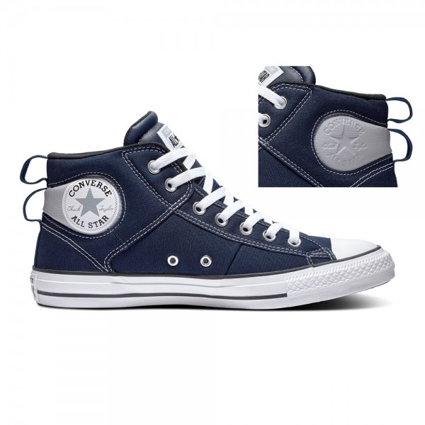 Chuck Taylor All Star Cs - Mid - Obsidian / Wolf Grey / White Leather
