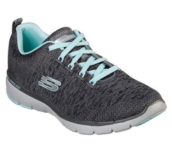 Flex Appeal 3.0 Charcoal / Light blue Textile