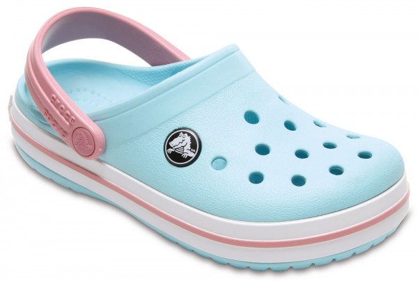 4ff1b33d3c78bc Crocband Clog Kids Ice Blue   White Croslite