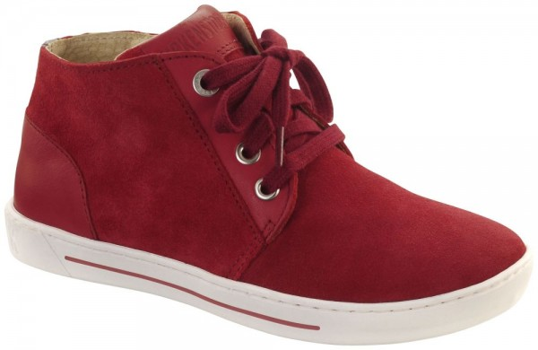 Prague Red suede leather
