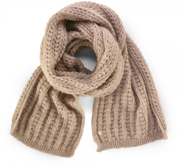 Fashion Ajour Scarf Women Camel