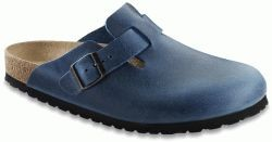 Boston Antik Blue Leather