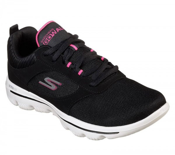 Go Walk Evolution Ultra Enhance - Black / Pink Textile