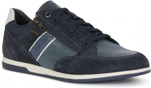 Renan D - Suede Waxed Leather - Blue Leather