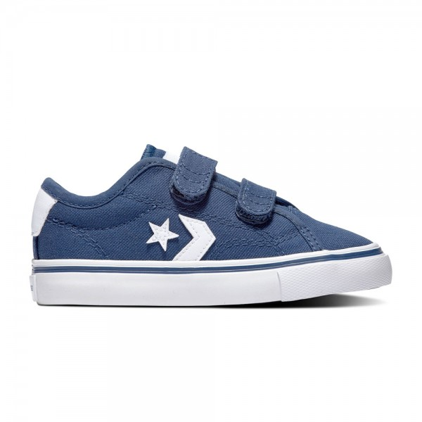 Converse Star Replay 2v Kids - Ox - Navy / Navy / White Canvas