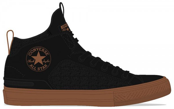 Chuck Taylor All Star Ultra Mid - Black / Black / Warm Tan Synthetics