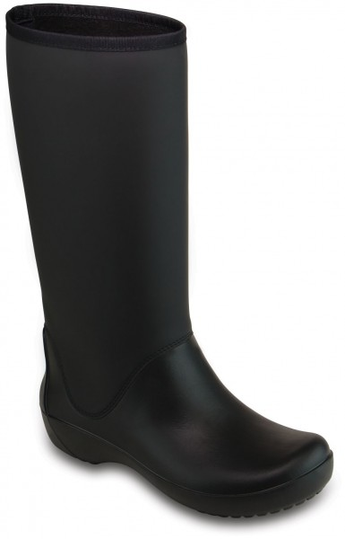 Rainfloe Tall Boot Black Croslite