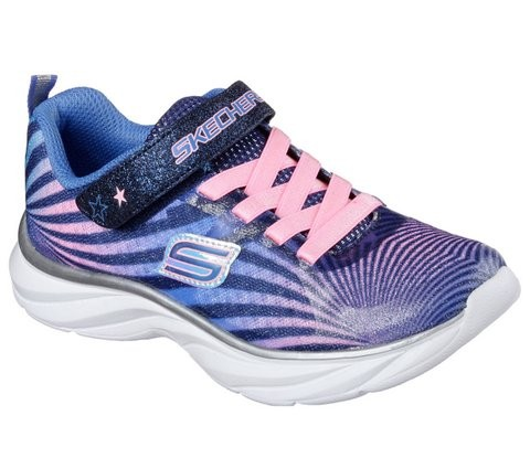 Sneakers Kinderschoenen.Pepsters Colorbeam Navy Pink Textiel Sneakers Kinderschoenen