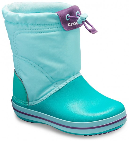0fac5044cbc Crocband LodgePoint Boot Kids Ice Blue   Tropical Teal Croslite ...