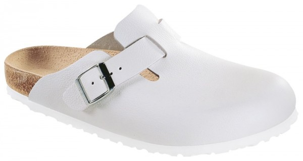 Boston White smooth leather