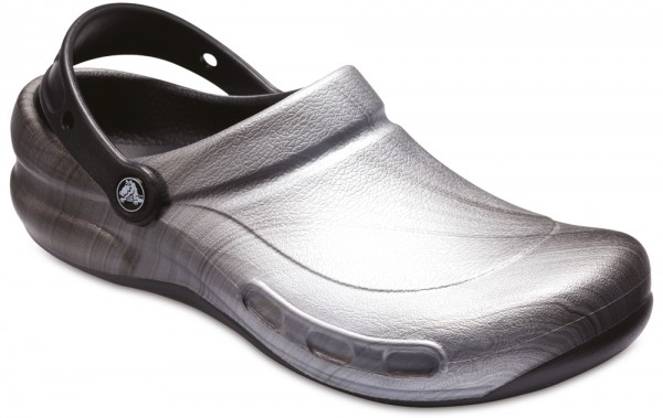 Bistro Graphic Clog Metallic Silver Croslite