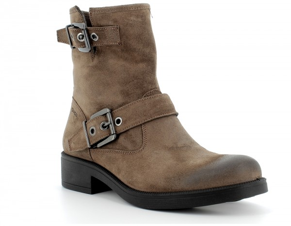 Doa 61593 - Taupe suede leather