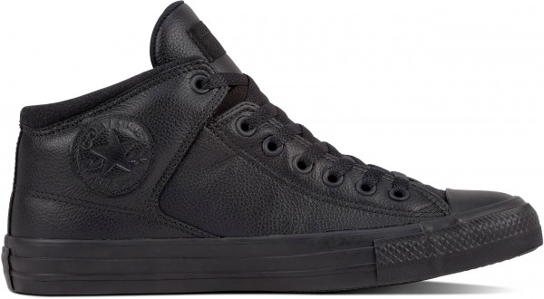 Chuck Taylor All Star High Street - Med - Black / Black / Black Leather/Synthetic