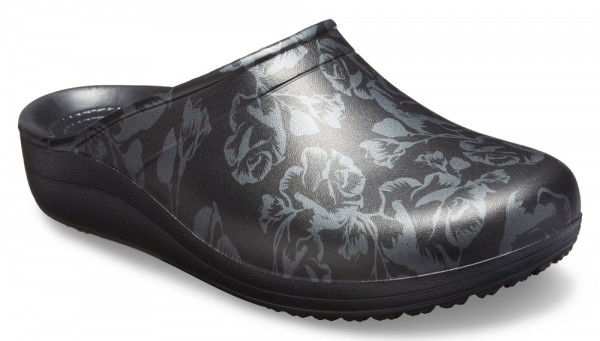 Sloane Graphic Clog Metallic Rose / Black Croslite