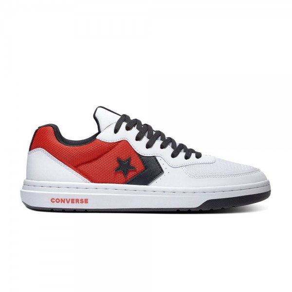 Converse Rival - Ox - White / University Red / Black Leather
