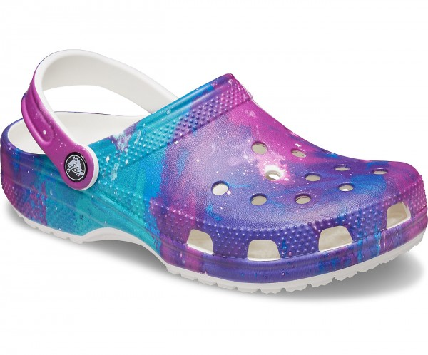 Classic Out Of This World Clog White / Purple Croslite