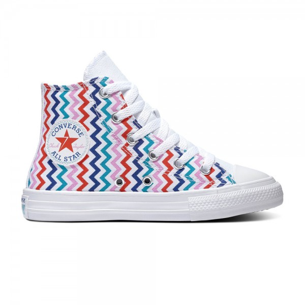 Chuck Taylor All Star Kids - Hi - White / University Red / Rush Blue Canvas
