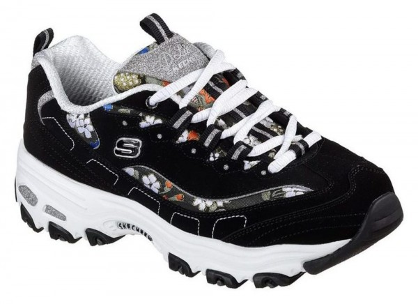 801dfeed16859 D-Lites - Floral Days - Black Leather Synthetic