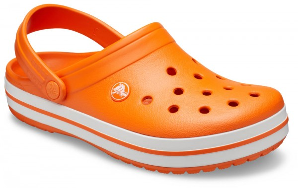 Crocband Orange / White Croslite