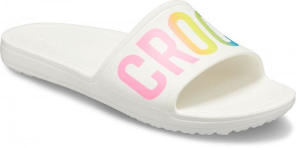 Sloane Logo Mania Slide Women White Croslite