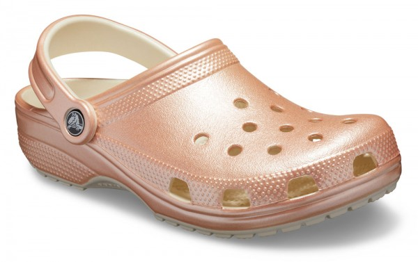 Classic Metallic Clog Rose Gold Croslite