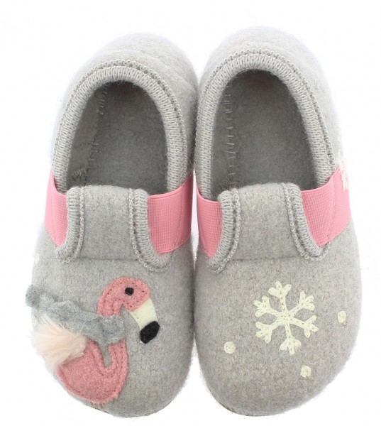 T-Modell Winterflamingo feather Grey Wool