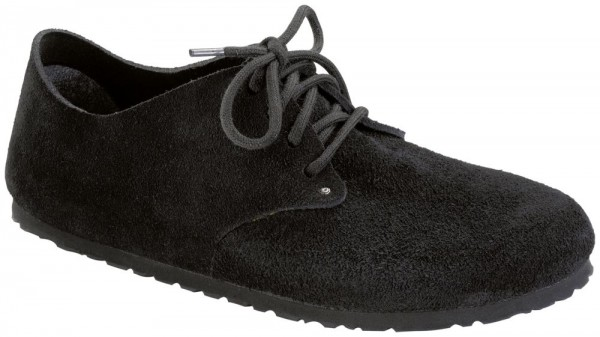 Maine Black suede leather