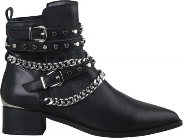 Mylo - Bootie - Black Boxcalf leather