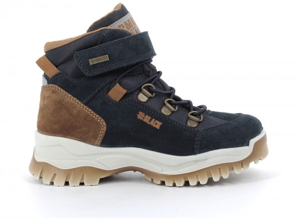 63976 - Navy / Brown suede leather