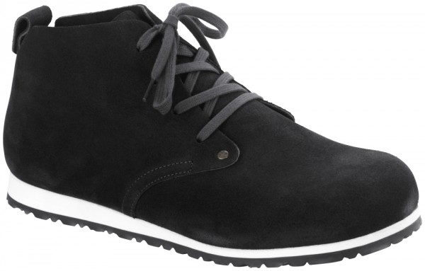 Dundee Plus Dark Grey suede leather